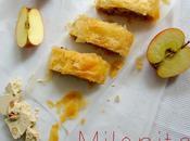 milopita comme stroudel avec morceaux halvas amandes pour goûter