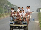 Issan, meeting with school children road fast double track