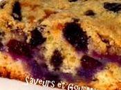 Blueberry Cake. Gâteau bleuets myrtilles.
