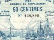 ROUEN 1920 Billet nécessité Chambre commerce