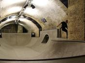 skate-park dans tunnel souterrain