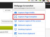 Faire capture d'écran d'une page complète depuis Chrome