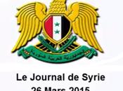 VIDÉO. Journal Syrie 26/03/2015. Russie, Iran Chine condamnent l'agression contre Yémen