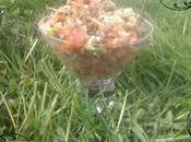 Salade quinoa, lentilles petits légumes