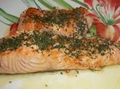 Pavé saumon beurre citron vert safrané
