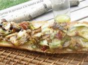 Tartines poireaux, tomate séchée mozzarella