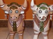 toits Cusco, taureaux Pukara.