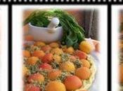 Tarte fine abricot-basilic
