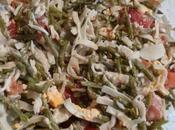 Salade d'haricots verts pâtes surimi