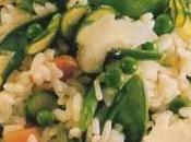 Risotto petits légumes printaniers parmesan