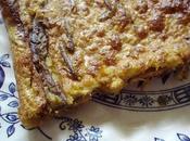 Farinata anchois (galette italienne farine pois chiche)