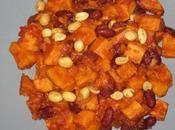 Patates douces haricots rouges cacahuète