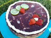 Biscuit roulé citron vert fraise kitchenaid