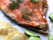 Saumon cuit façon gravadlax crêpes pommes terre Dill sugar-cured roast salmon potato cakes