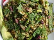 Poêlée légumes verts sarrasin pesto menthe -pistache (vegan)