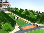 tennis aussi pied Tour Eiffel avec Roland Garros
