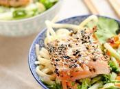 Saumon mi-cuit sésame, salade asiatique