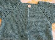 Tout-en-coton, petit gilet top-down tout point mousse (6-8 ans)
