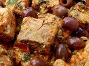 Tajine saumon olives, tomates citron