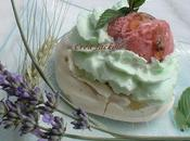 Meringue glacée fraise menthe miel lavande