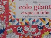 ateliers calme Colo géant cirque folie déplier, colorier afficher