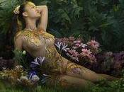 Duong Quoc Dinh, décoration florale corps féminin