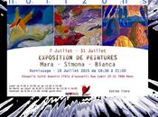 "Exposition Simona Cadar, élèves Bianca Mierlea Mara Cosleacara Mons Pole ""Horizons"""