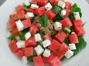 Salade pastèque féta menthe