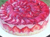 Gâteau crème mousseline framboise fraises fraîches