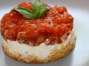 Recette cheesecake Tomates Chèvre Basilic