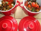 minis cocotes champignons, tomates,