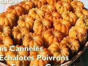 Minis Cannelés Echalote Poivron Tomates séchées