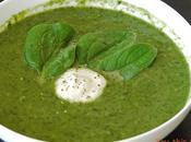 Soupe kale, épinard tofu
