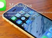 iPhone Comment désactiver deuxième avertisseur sonore réception d'un message?