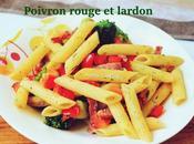 Pene brocolis/poivron rouge lardon
