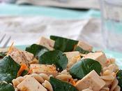 Salade pâtes cresson tofu mariné l'orange