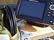 Aménagement float-tube fabrication pose d'un support pour l'écran sondeur