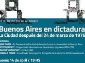 Cycle conférences Buenos Aires dans années plomb l'affiche]