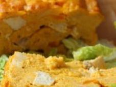 Pudding poulet carotte