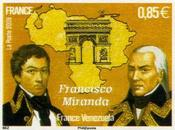 Hommage Précurseur Francisco Miranda l'Arc Triomphe [ici]