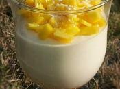 Mousse chocolat blanc fruits tropicaux