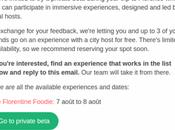 Airbnb invite expériences immersives