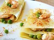 Lasagne crevettes petits pois
