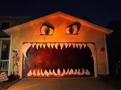 Elle transforme porte garage décoration d'Halloween plus géniales!