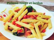 Penne brocolis/poivron rouge lardon
