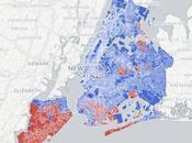 carte quartiers york selon leur vote clinton trump