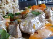 Blanquette veau cocotte & risotto champignons