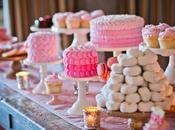 Votre buffet desserts totalement roses