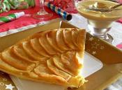 Tarte fine pommes Crème pâtissière (Vegan)