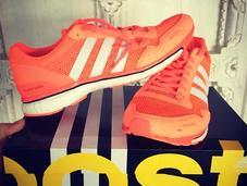 chaussures running Adidas Adizero Adio aussitôt reçues, shootées